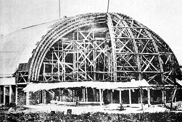 The Tabernacle under construction in 1866