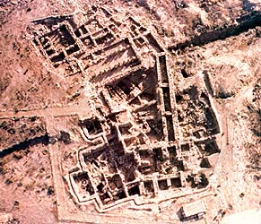 Air view of Stratum X city gate at Hazor