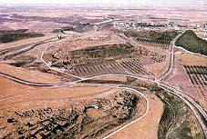 Highways and farmland of modern-day Tel Lachish