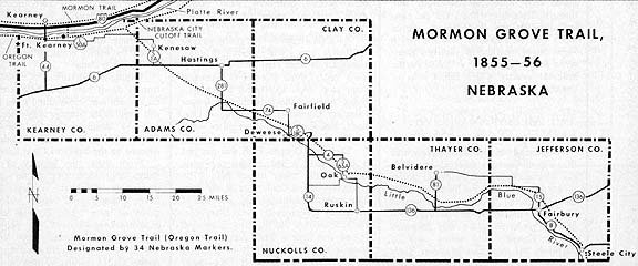 Mormon Grove Trail, 1855–56 Nebraska
