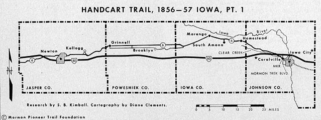 Handcart Trail, 1856–57 Iowa, Pt. 1