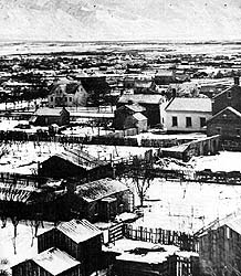 Salt Lake City as photographed in 1868
