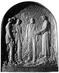 A bas-relief of the Three Witnesses