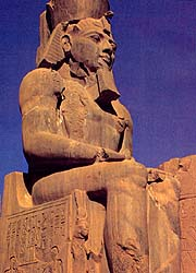 Giant seated statue of Ramses II