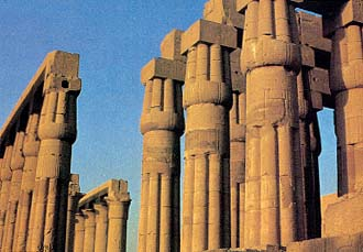 View of the temple at Luxor