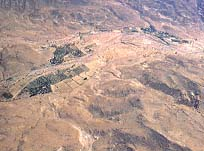 Aerial view of the area of Ain el-Qudeirat