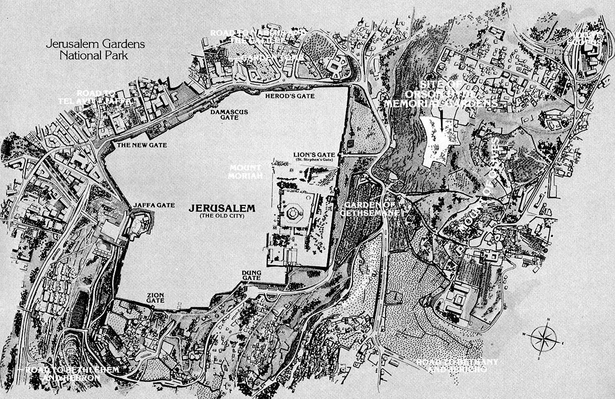 "Map of the ""Old City"" of Jerusalem"