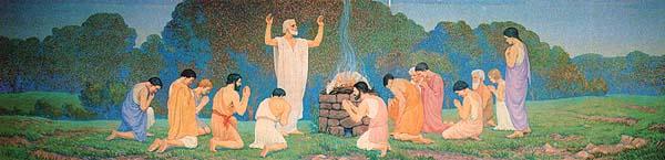 Nephi offering sacrifice