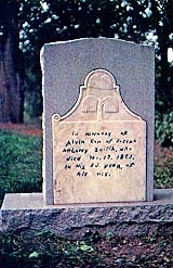grave site of Joseph's older brother, Alvin