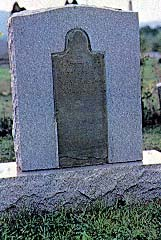 headstone of Joseph and Emma's infant son
