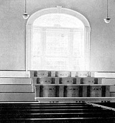 pulpits in the west end of the Kirtland Temple