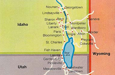 Map of the Bear River Valley