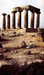 A pagan Corinthian temple