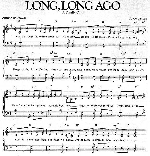 Music, Long, Long Ago