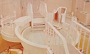 Logan Temple baptismal font