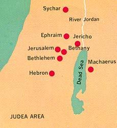 map of Judea area