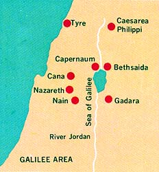 map of Galilee area