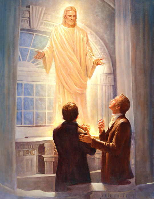 Christ Appears to Joseph Smith and Oliver Cowdery in the Kirtland Temple