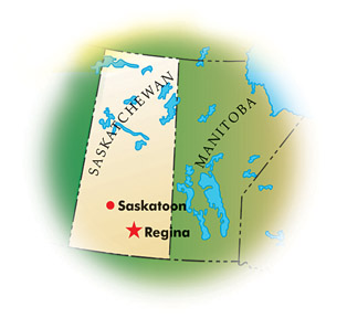 Map of Saskatchewan