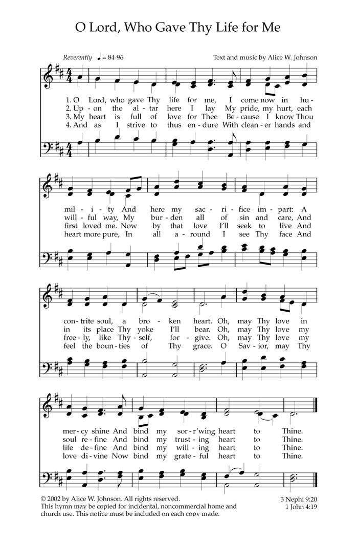 Music, O Lord, Who Gave Thy Life for Me