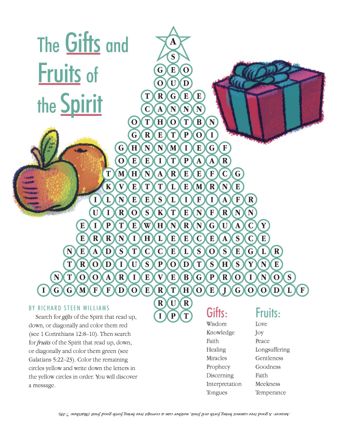 the gifts and fruits of the spirit