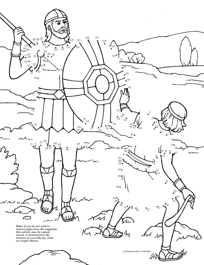 david and goliath - Lds Easter Coloring Pages
