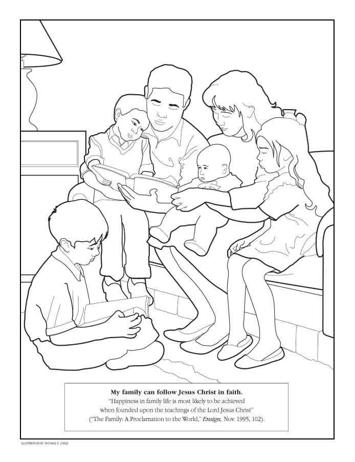 Coloring Page My Family Can Follow Jesus Christ In Faith
