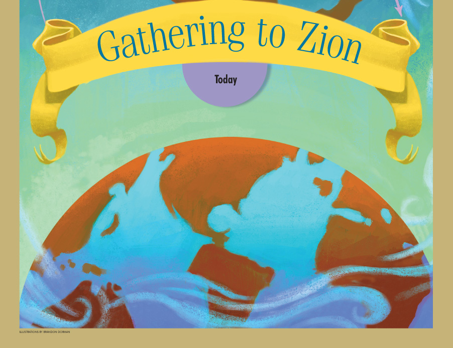Gathering to Zion, right page