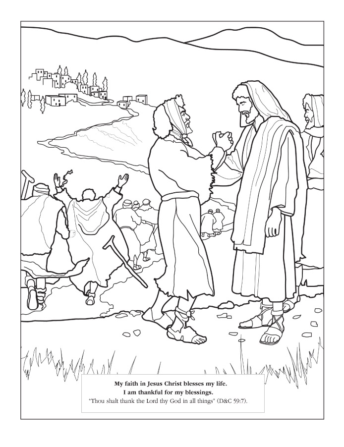 Lds Coloring Pages Jesus Coloring Pages