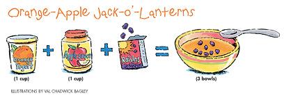 Orange-Apple Jack-o'-Lanterns