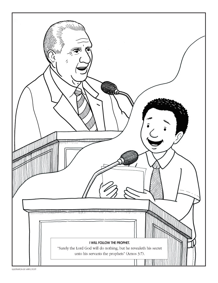 Lds Coloring Pages Testimony