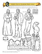 Joseph Smith and Emma Hale cutout figures