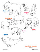 Book of Mormon animals, right page