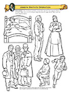 Joseph Smith and family cutout figures