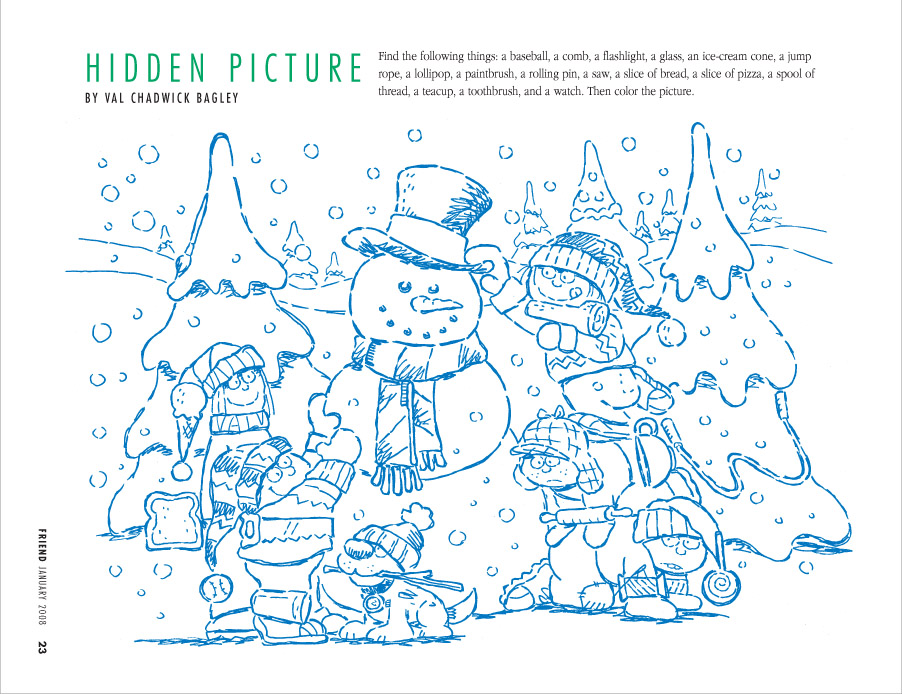 snow fun - Find The Pictures Printables