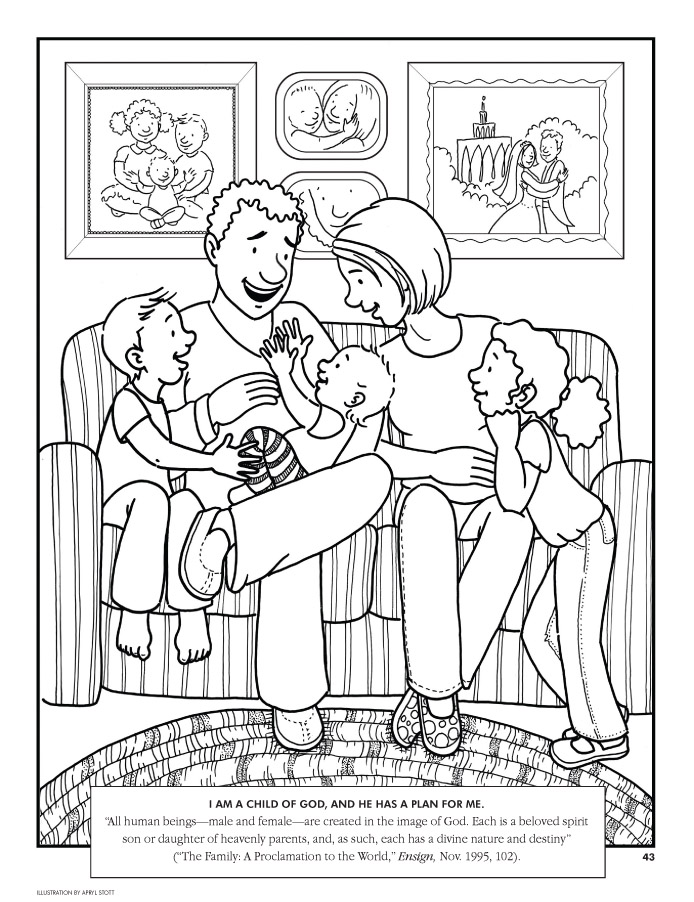 Coloring Page I Am A Child Of God And He Has Plan For Me