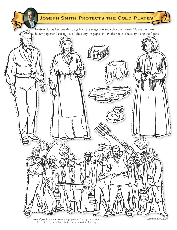Lds First Vision Coloring Page