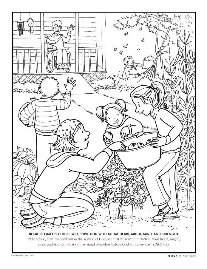 Lds coloring pages 2018 2009 for Ds coloring pages