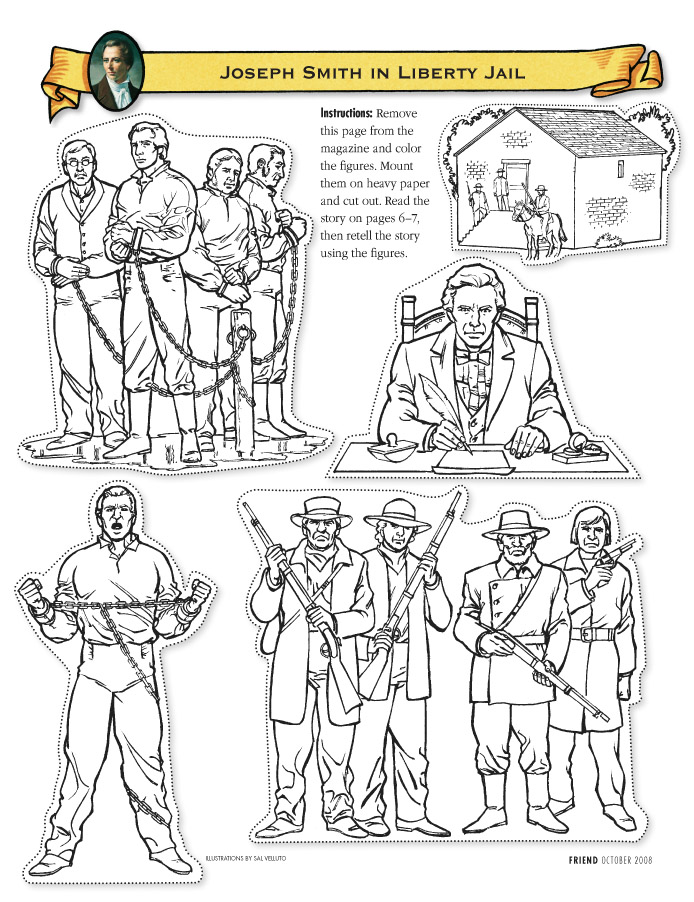 Joseph Smith In Liberty Jail Cutout Figures