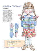 paper doll, girl praying