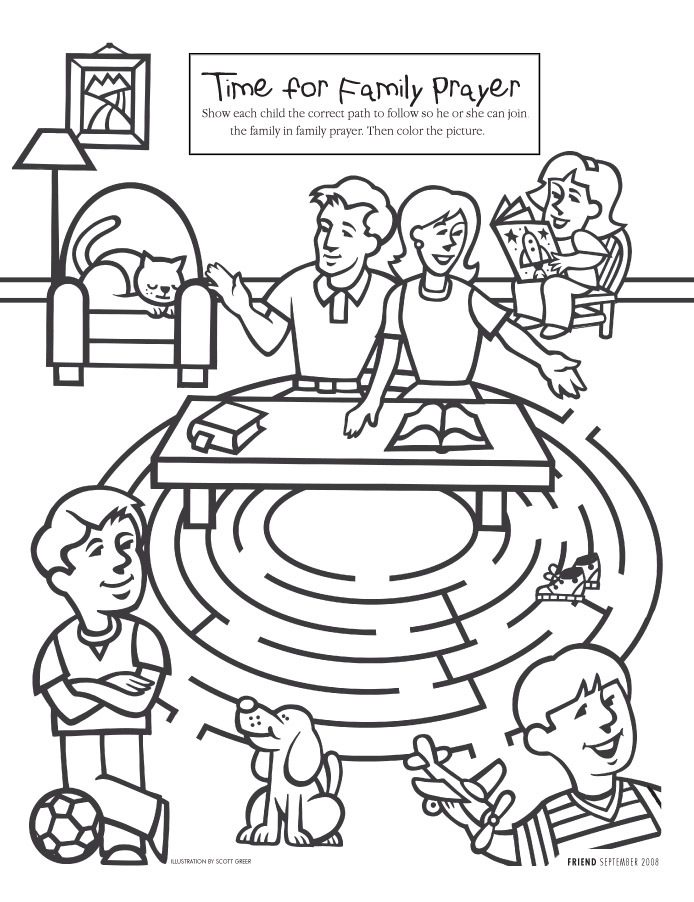 Fasting And Prayer Lds Coloring Page Wwwhealthgainstore