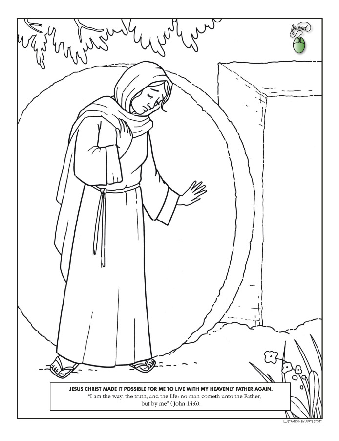 "Lds Coloring Pages Pdf : ""coloring page liahona april f"