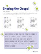number code scripture activity