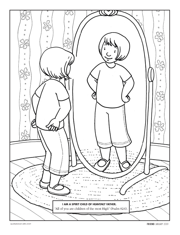 I Can Pray To Heavenly Father Coloring PageCanPrintable Coloring