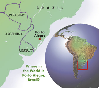 map of part of South America