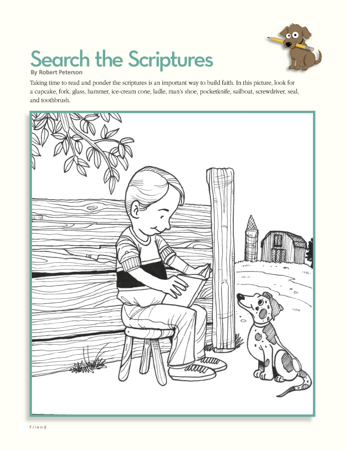 april 2010 page 20 search the scriptures a hidden pictures coloring