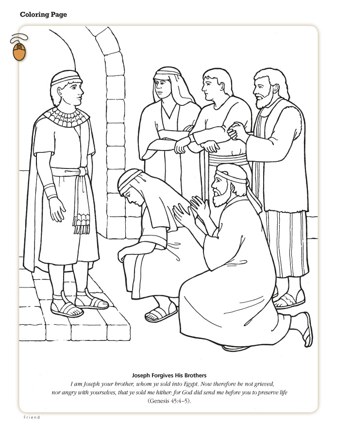 Following christ as a family march 2013 for Bible coloring pages joseph