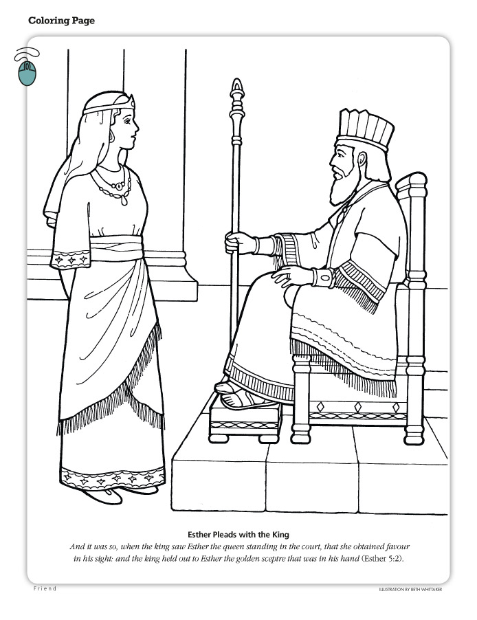 esther coloring pages bible-#26