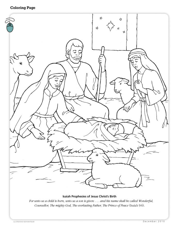 Happy Clean Living Primary 3 Lesson 47 Christmas Primary Coloring Pages