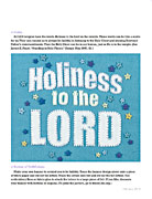 Holiness to the Lord banner
